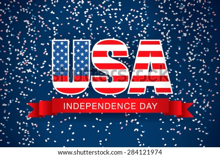 fourth of july. Happy independence day. Holidays symbols