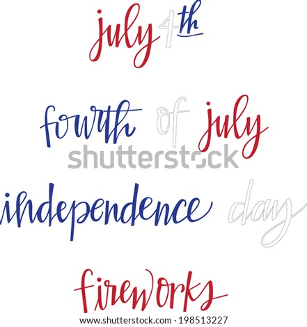 Fourth of July Holiday Vector Set