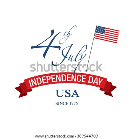 Fourth of July. Independence day. Vector sign #389544709