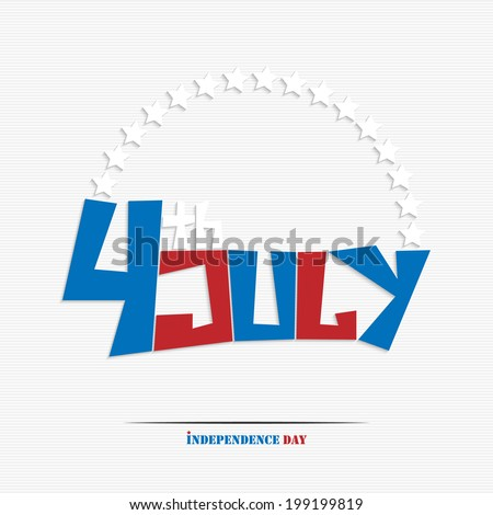 Fourth of july stylish text for your design #199199819