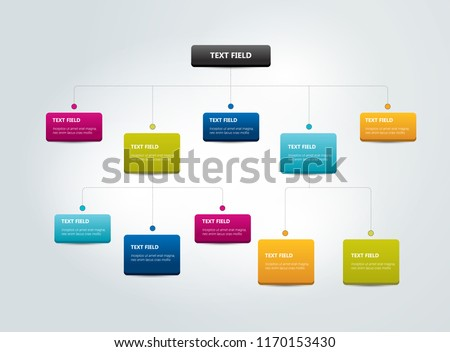 Fowchart Infographics . Colored shadows scheme. Photo stock ©