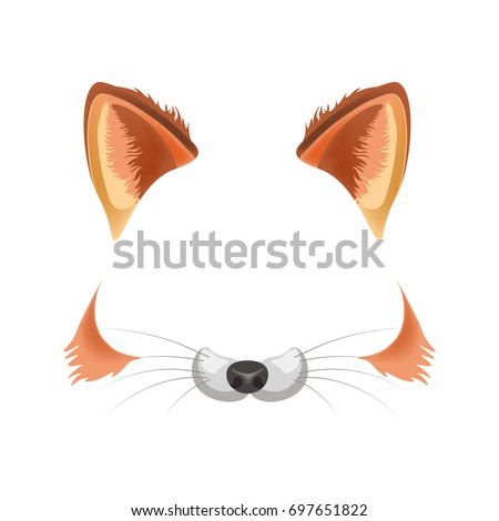 fox animal face filter template