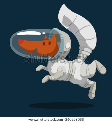 fox astronaut  vector