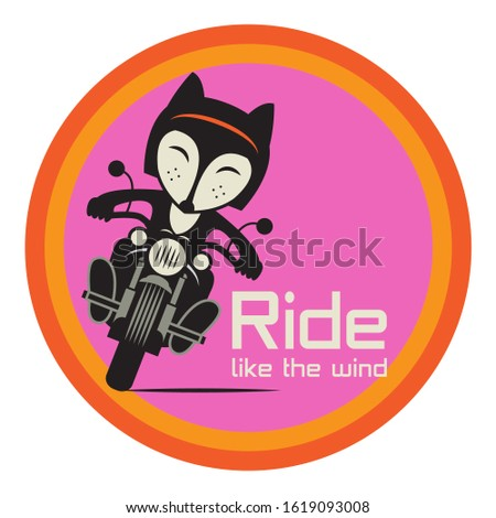 fox biker riding a motorcycle