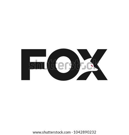 Fox creative logo vector. Fox icon.