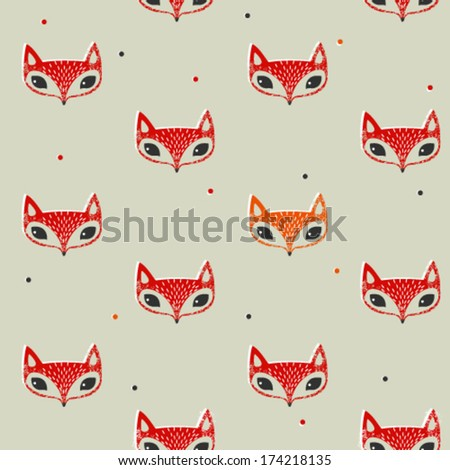fox face pattern