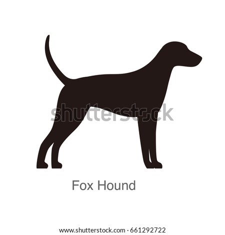 fox hound dog silhouette  side