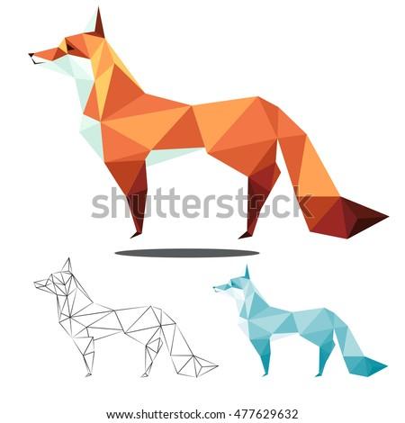 fox ilustration graphic art in