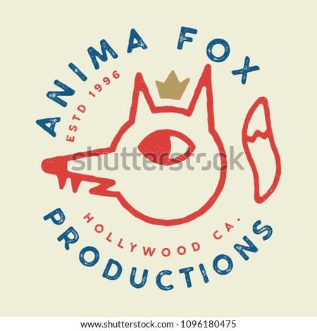 Fox Logo Badge, t-shirt and Apparel Design