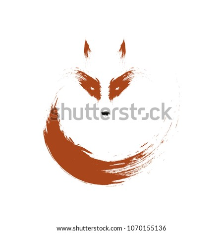 Fox logo sign isolated on a white background.
