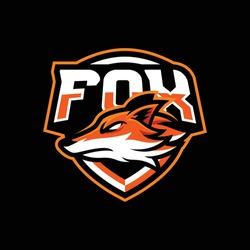 Fox mascot logo design illustration