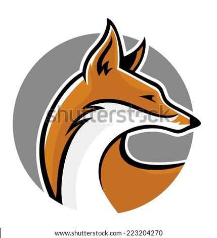 fox mascot side