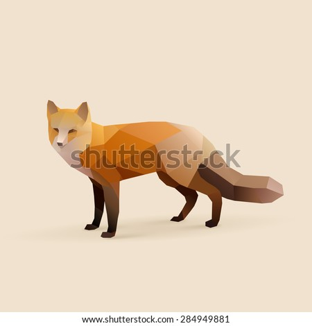 fox polygonal illustration