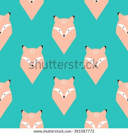 fox seamless pattern eps10