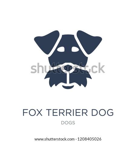 fox terrier dog icon trendy