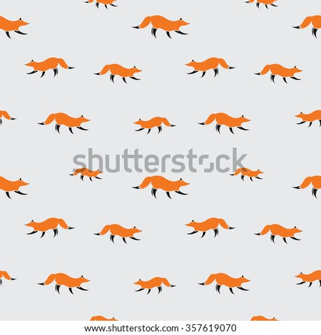 fox vector art background