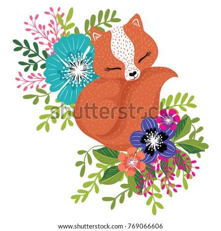 fox vector  cute animal