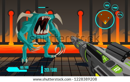 fps first person shooter videogame stage