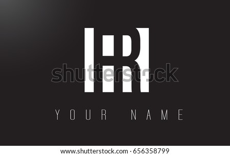 FR Letter Logo With Black and White Letters Negative Space Design.