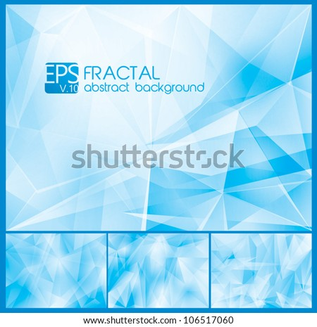Fractal Abstract Background. A set of fractal abstract background, each background separately on different layers.  Available in 4 variants
