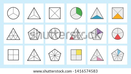 Fraction mathematics Fraction Calculator Simplifying Fractions on white background  vector illustration  Foto d'archivio ©