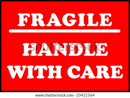 fragile handle with care notice board