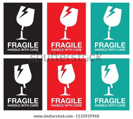 It's just a graphic of Fragile Glass Labels Printable within packing
