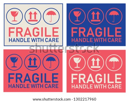 Handle With Care Labels and Icons - Download Free Vectors