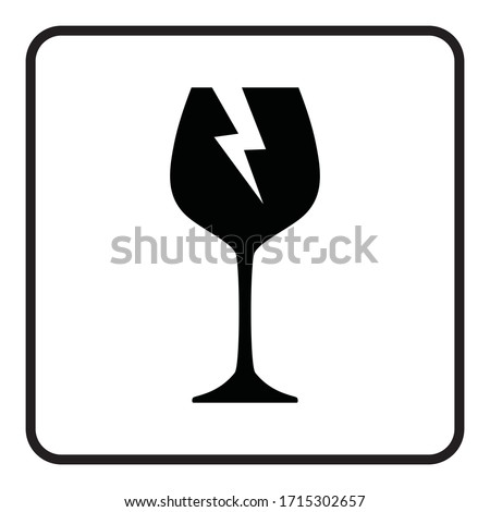 Fragile icon. Glass symbol warning sign. Packaging Symbol Stock foto ©
