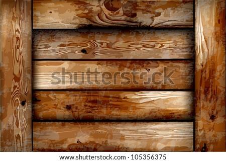 Fragile wooden box. Vector background