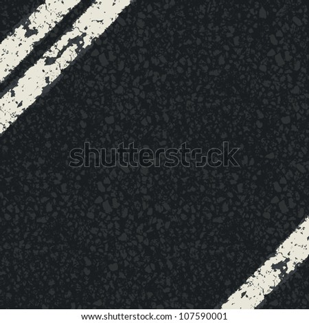 Fragment of asphalt road. Vector, EPS10 - stock vector
