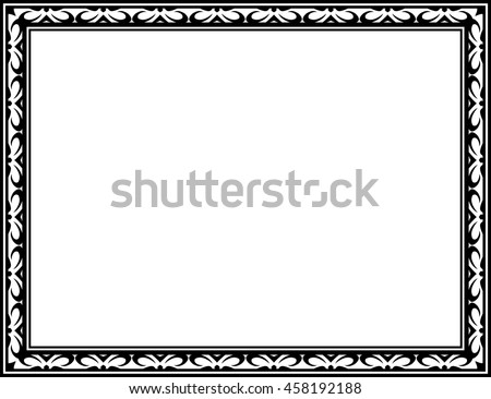 Frame border beautiful vector vintage isolated #458192188