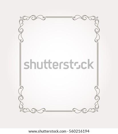 Frame border. Decorative design element and fancy page ornament. Vector illustration #560216194