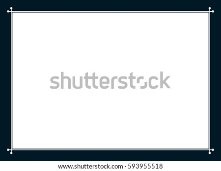 Frame border line page vector simple banner #593955518