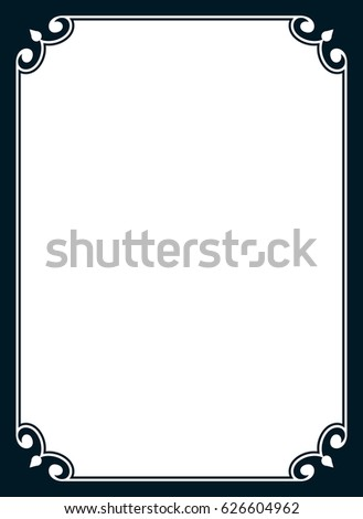 simple frame border design. Shutterstock PuzzlePix. Frame Border Design Simple
