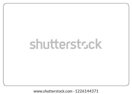 Frame border line page vector vintage simple #1226144371