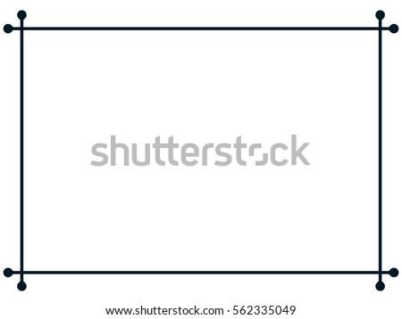 Frame border line page vector vintage simple #562335049