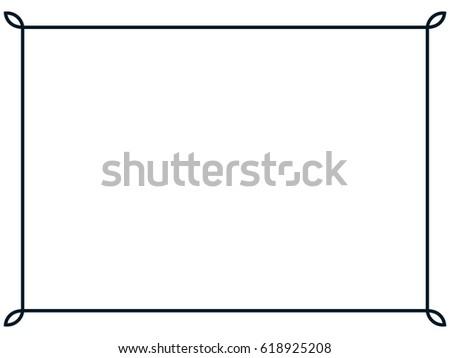Frame border line page vector vintage simple #618925208