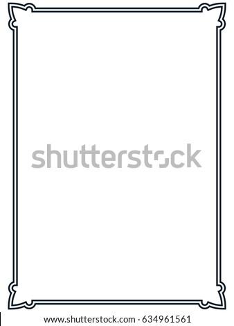 Frame border line page vector vintage simple