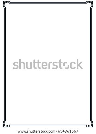 Frame border line page vector vintage simple #634961567