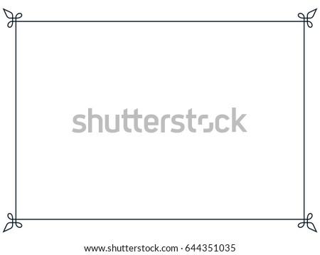 Frame border line page vector vintage simple #644351035