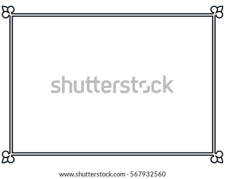 Frame border line page vector vintage simple banner #567932560