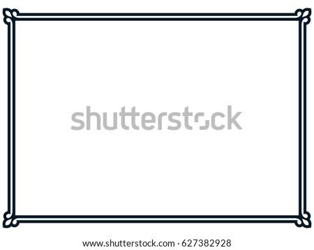 Frame border line page vector vintage simple banner #627382928
