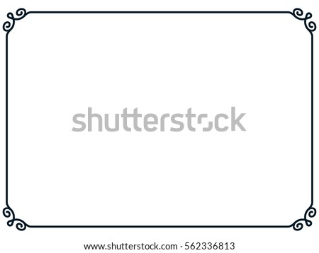Frame border line page vector vintage simple horizontal