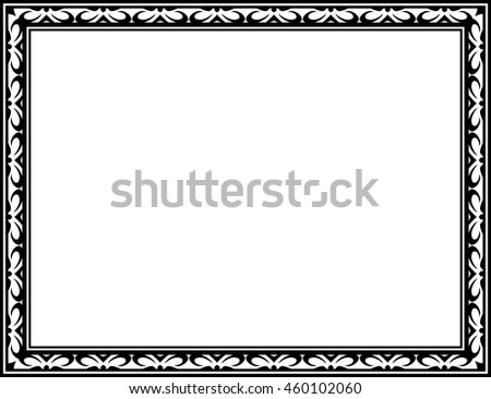 Frame border vector vintage isolated #460102060