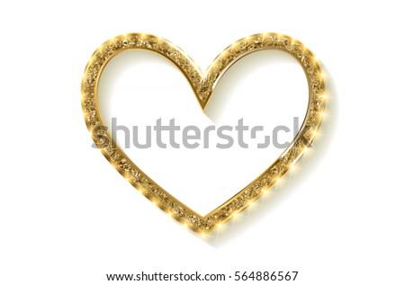 frame cinema heart gold