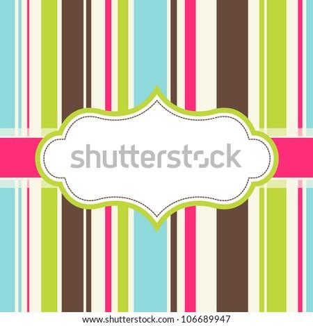 frame design for greeting card - stock vector