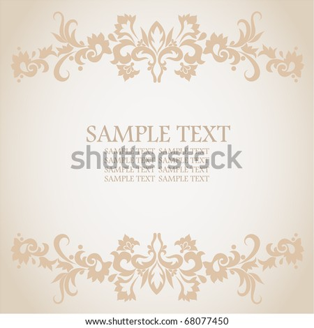 Frame floral background. #68077450