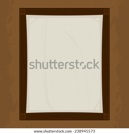 frame for photo and menu information. vector format.