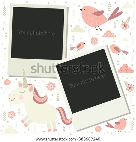 frame for photos of little baby